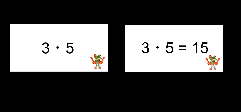 Kleines Einmaleins Lernkarten